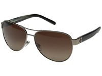 Tory Burch 0Ty6051 Light Gold Olive Horn Brown Gradient Polarized Fashion Sunglasses