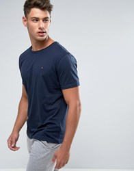 Tommy Hilfiger Flag Icon T Shirt In Organic Cotton In Navy Navy