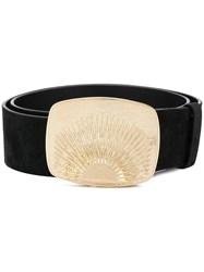 Dorothee Schumacher Signature Buckle Belt Black
