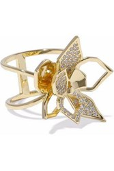 Noir Gold Tone Crystal Ring Gold