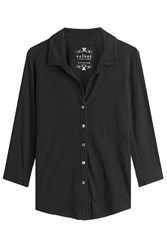 Velvet Cotton Shirt Black