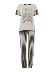 Therapy Cat Nap Pj Set Grey