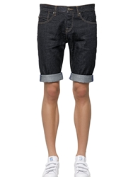 Adidas Originals By Nigo Cotton Denim Jean Shorts Dark Blue