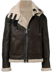 Faith Connexion Reversible Shearling Jacket Brown