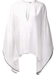 Adam By Adam Lippes V Neck Kaftan White