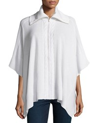 Magaschoni Cashmere Cable Panel Poncho Women's