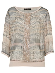 Betty Barclay Printed Chiffon Blouse Grey Rose