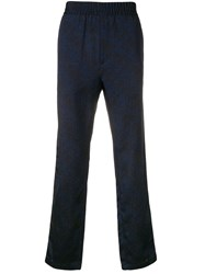 Paura Mid Rise Track Trousers Blue