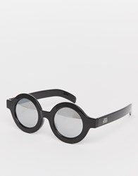 Cheap Monday Moon Round Sunglasses Black