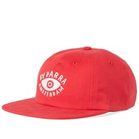 By Parra 6 Panel Eye Cap Red