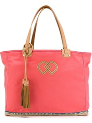 Dsquared2 Tassel Detail Tote Pink And Purple