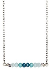 Leila Ombre Stick Necklace Blue