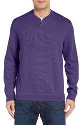 Tommy Bahama Men's 'New Flip Side Pro Abaco' Reversible Sweater Violet Dusk Heather