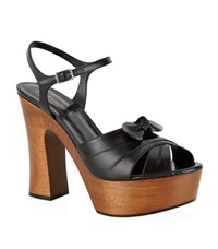 Saint Laurent Wood Heel Candy Sandal