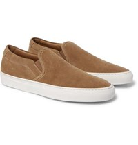 Common Projects Suede Slip On Sneakers Tan