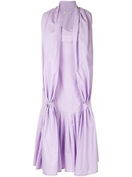 Aalto Dress With Scarf Detail Purple