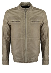 Solid Rigby Faux Leather Jacket Kit Beige