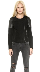 J Brand Ready To Wear Ranya Leather Jacket Black Black