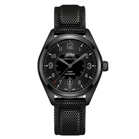 Hamilton H70695735 'S Khaki Field Day Date Automatic Rubber Strap Watch Black