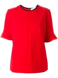Victoria Beckham Flared Sleeve T Shirt