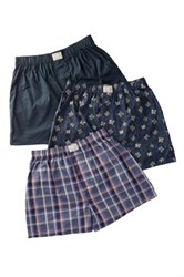 Lucky Brand Woven Boxers Pack Of 3 Multi