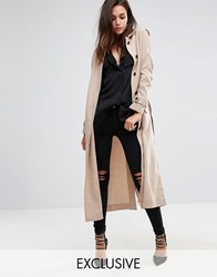 Religion Relaxed Drapey Trench Jacket Gray