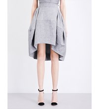 Antonio Berardi Tulip Linen Blend Skirt Charcoal