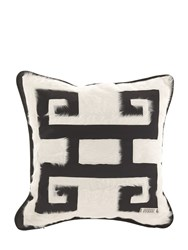 Gianfranco Ferre Home Greca Negativo Decorative Pillow