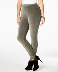 Style And Co. Plus Size Corduroy Stretch Leggings Only At Macy's New Rye