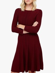 Monsoon Freja Fit And Flare Dress Berry