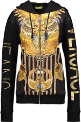 Versace Jeans Printed Jersey Hooded Sweater Multi