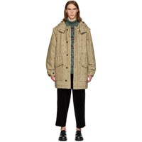 Undercover Beige Valentino Edition Base Printed Parka