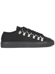 J.W.Anderson Low Canvas Sneakers Black