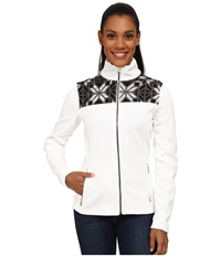 Spyder Criss Mid Weight Core Sweater White Black Image Gray Women's Sweater