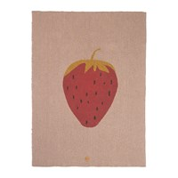 Ferm Living Knitted Fruiticana Baby Blanket Strawberry