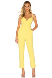 Bcbgmaxazria Plunging Cut Out Jumpsuit Yellow