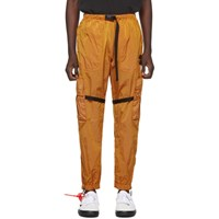 Off White Orange Parachute Cargo Pants