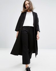 Monki Half Sleeve Duster Coat Black