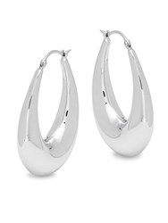 Saks Fifth Avenue Sterling Silver Oval Hoop Earrings
