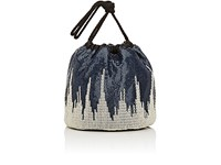 Paco Rabanne Women's Sac Mesh Bucket Bag Navy