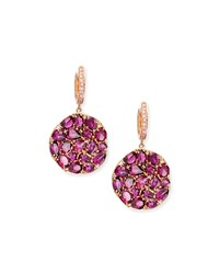Rhodolite Round Wavy Drop Earrings Rina Limor Pink