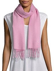 Yves Saint Laurent Wool And Cashmere Scarf Rose