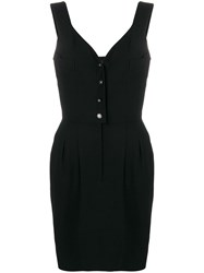 Chanel Vintage 1996 Belted Short Dress Black
