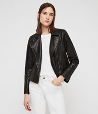 Allsaints Vela Leather Biker Jacket Black