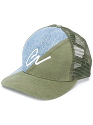 Greg Lauren Panelled Baseball Cap 60