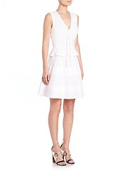 Proenza Schouler Cotton Poplin Peplum Dress Optic White