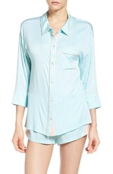 Honeydew Intimates Women's Breakaway Pajamas Malibu Pinstripe