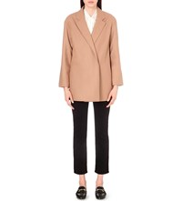 French Connection Platform Wool Blend Coat Indian Tan