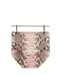 Hunter Amor Fati Python Satchel Bag Pink