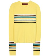 Sies Marjan Striped Alpaca And Cashmere Sweater Yellow